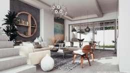 Sala: Salas de estilo minimalista por Diez y Nueve Grados Arquitectos
