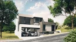 Fachada principal: Casas de estilo minimalista por Diez y Nueve Grados Arquitectos