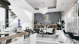 Sala comedor: Salas de estilo minimalista por Diez y Nueve Grados Arquitectos