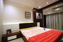 atman and helees flat: asian Bedroom by studio 7 designs