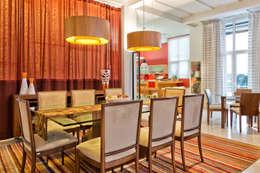 Residência  Vista Alegre  -Curitiba-PR: Salas de jantar modernas por Karin Brenner Arquitetura e Engenharia