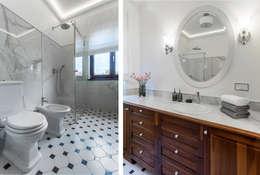 Salle de bains de style  par Pszczołowscy projektowanie wnętrz