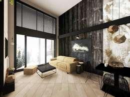 Livings de estilo industrial por Hanna Szczypińska - Architektura Wnętrz