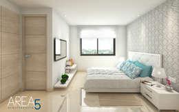 Evora85: Habitaciones de estilo moderno por Area5 arquitectura SAS