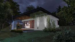 """Cabaña """"V"""": Casas de estilo moderno por Comma - Oficina de arquitectura"""