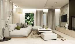 Haus in Przasnysz: moderne Wohnzimmer von FOORMA