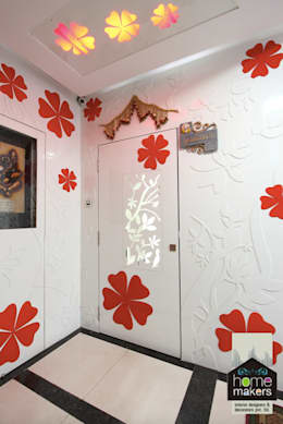 Entrance: modern Houses by home makers interior designers & decorators pvt. ltd.