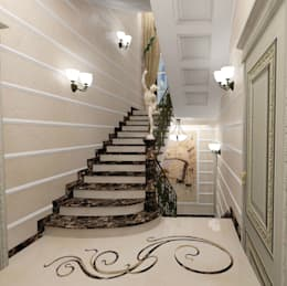Лестница: Коридор и прихожая в . Автор – Дизайн-студия Сергеевой Надежды