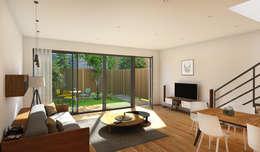 Vue depuis maison: Maisons de style de style Moderne par atelier AMEG