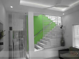 GREEN COLLAGE: minimalistic Living room by DREAM INFINITE