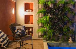 Jardines de estilo topical por Gisele Ribeiro Arquitetura