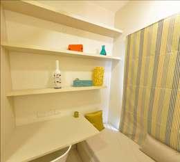 Study cum Bedroom: minimalistic Bedroom by Uncut Design Lab