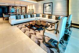 Salas de estar modernas por Art.chitecture, Taller de Arquitectura e Interiorismo 📍 Cancún, México.