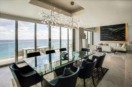 Pent-house LAHIA: Comedores de estilo moderno por Art.chitecture, Taller de Arquitectura e Interiorismo 📍 Cancún, México.