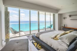 Pent-house LAHIA: Recámaras de estilo moderno por Art.chitecture, Taller de Arquitectura e Interiorismo 📍 Cancún, México.