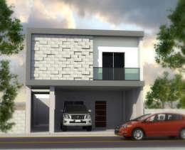 RENDER DE DISEÑO PROPUESTO EN FACHADA:  de estilo  por OR Arquitectura y Construcción