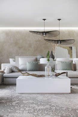 Ruang Keluarga by DZINE & CO, Arquitectura e Design de Interiores