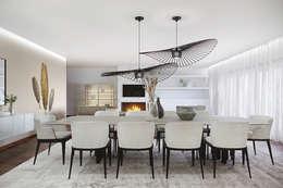 moderne Eetkamer door DZINE & CO, Arquitectura e Design de Interiores