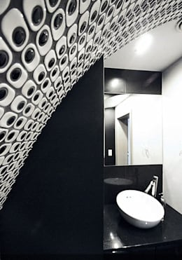 Ванные комнаты в . Автор – Biuro Projektów MTM Styl - domywstylu.pl