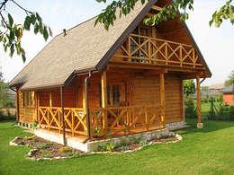 Casas de estilo rural por Biuro Projektów MTM Styl - domywstylu.pl