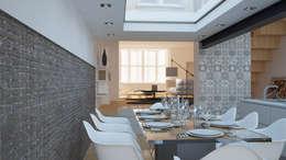 Salle à manger de style de style Moderne par OverAlls architecture