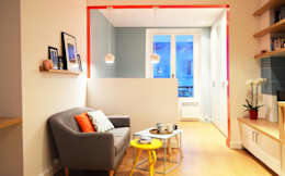 scandinavian Living room by Sandrine Carré