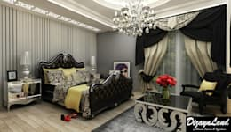 Altuncu İç Mimari Dekorasyon – Beylikdüzü ''Yatak Odası&Giyinme Odası tasarımı'': klasik tarz tarz Yatak Odası