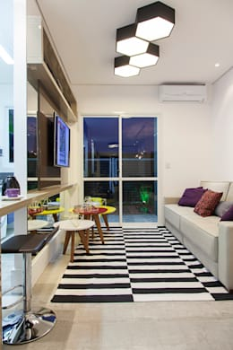 modern Living room by carolina lisot arquitetura