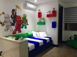 modern Nursery/kid's room by ea interiorismo