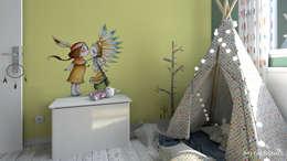 Chambre d'une petite sioux !: Chambre d'enfant de style de style eclectique par MJ Intérieurs