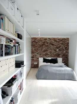 Спальни в . Автор – MINIMOO Architektura Wnętrz