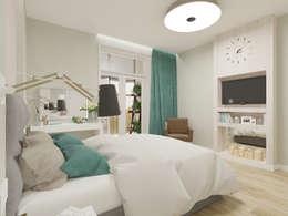Визуализация: квартира в Петербурге : Спальни в . Автор – OK Interior Design