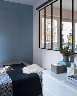 37m2 repensé comme un mini loft: Chambre de style de style Industriel par Alguma Coisa Design