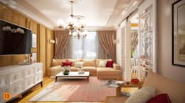 eclectic Living room by Art-i-Chok
