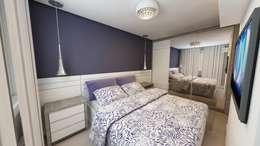 Débora Pagani Arquitetura de Interiores: modern tarz Yatak Odası