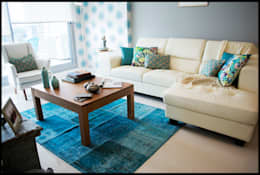 غرفة المعيشة تنفيذ Diseñadora Lucia Casanova