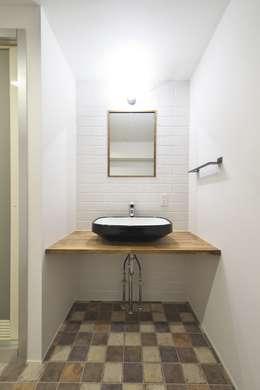 洗面台 | 工事後: FRCHIS,WORKSが手掛けた浴室です。