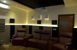 Home Theater: eclectic Media room by KREATIVE HOUSE