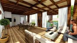 Residência Contemporânea: Terraços  por Studio²