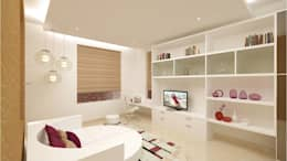 CHAITANYA LA GROVE VILLA, BANGALORE (www.depanache.in) : modern Nursery/kid's room by De Panache  - Interior Architects