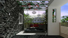 Villa Interiors & Exteriors , Bangalore:  Terrace by De Panache  - Interior Architects