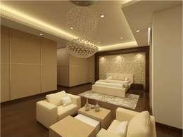 MANTRI ESPANA, BANGALORE. (www.depanache.in): classic Bedroom by De Panache  - Interior Architects