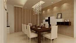 MANTRI ESPANA, BANGALORE. (www.depanache.in): classic Dining room by De Panache  - Interior Architects