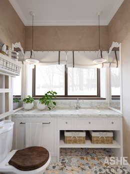 Дизайн интерьера коттеджа: Ванные комнаты в . Автор – Студия авторского дизайна ASHE Home