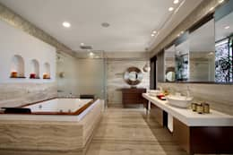 Nikhil patel residence: modern Bathroom by Dipen Gada & Associates