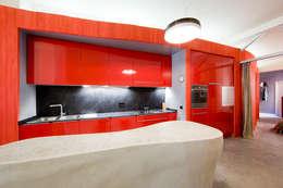 LUMINOSRED: Cocinas de estilo moderno de Sucursal urbana universo Sostenible