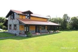 Projekty, wiejskie Domy zaprojektowane przez ecoviga4 sll