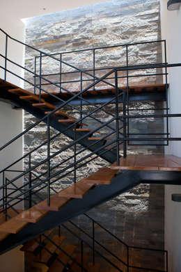 CASA RODEADA: Pasillos y recibidores de estilo  por 2.8 I NIKOLAS BRICEÑO arquitecto