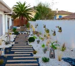 Petit jardin de ville.: Jardin de style de style eclectique par PATXI CASTRO