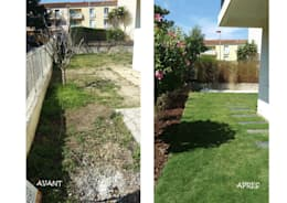 Jardines de estilo asiático por Le Jardin Qui Bouge